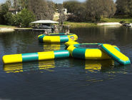 China Rave Bongo Water Trampoline Parks , Inflatable Water Games , Water Park Games factory
