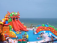 China Custom Inflatable Water Park with Pool , Giant Amusement Park Equipment factory