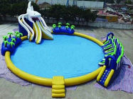 China Customized Design 20 meters Diameter Inflatable Shark Water Park for Sale factory
