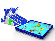 China 2014 Newest Backyard Inflatable Water Park With Dolphin Slide For Kids factory