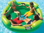 China Entermainment 4 Person Inflatable Floating Island / Inflatable Shock Rocker company