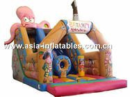 China Customized Inflatable Slide In Pirate Ship And Octops Shape For Kids factory