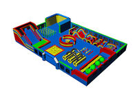 Big Inflatable Theme Park Bouncy Jumping Castle Playground For Kids supplier
