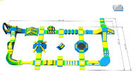 Safety Blue Yellow Inflatable Water Amusement Park For Resort CE UL SGS supplier