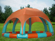 Family Size Kids Inflatable Pools With Tent Cover supplier