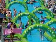 Inflatable slide the city