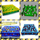 China Inflatable Labyrinth, Ourdoor Inflatable Maze Games For Business Promotion factory