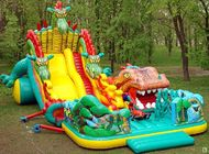 China Inflatable Fairground In Dragon Shape For Children Amusement Games factory