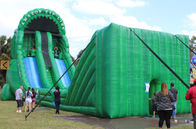 China Green Inflatable Zip Line Sports For Outdoor Event Adventure Games company