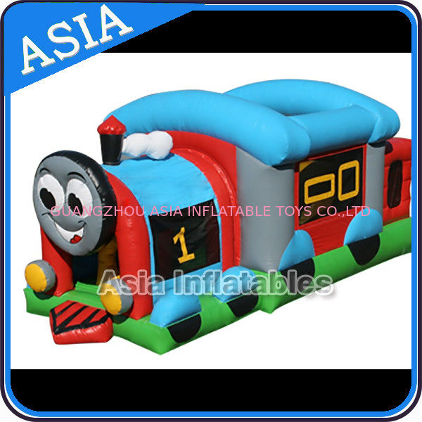 Commercial Inflatable Bouncer Choo Choo Train Bouncy House For Kids supplier