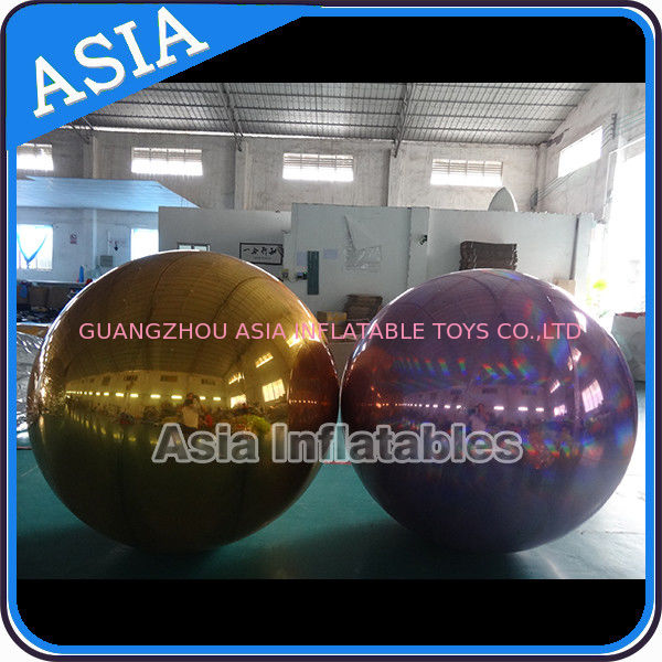 Inflatable Helium Advertising Mirror Balloon / Giant Inflatable Mirror Ball Ground supplier