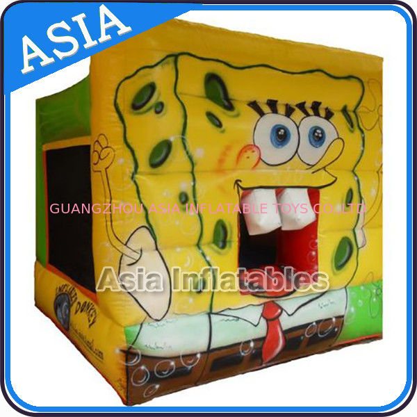 Lovely Inflatable Sponge Bob Cartoon Bouncy Castle For Party Hire Games supplier
