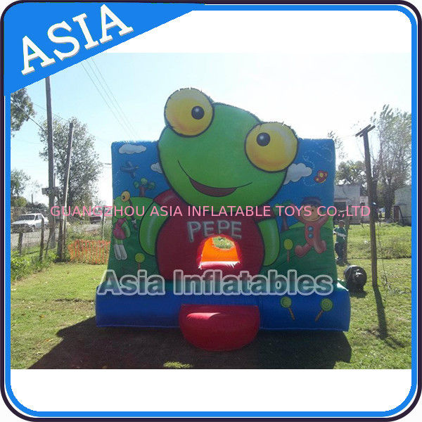 Inflatable Bouncer Sapo Pepe Bouncy Castle For Party Hire Outdoor Games supplier