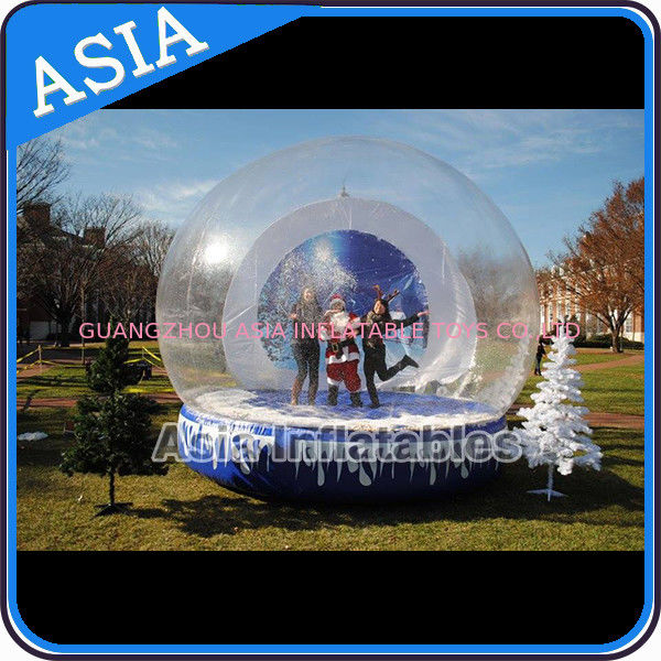 Christmas Inflatable Snow Globe Inflatable Bubble Tent Water And Fire Proof supplier