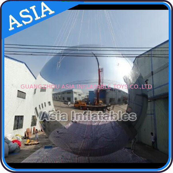 Silver Customized 8m Advertising Inflatable Commercial Mirror Balloon supplier