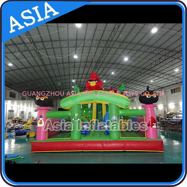 Inflatable Angry Bird Bouncer Slide Palyground / Inflatable Angry Bird Jumping Bouner Castle Combo supplier
