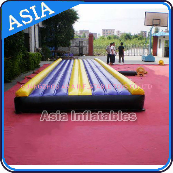 Yoga Training Inflatable Tumble Mattress With Constant Blower supplier