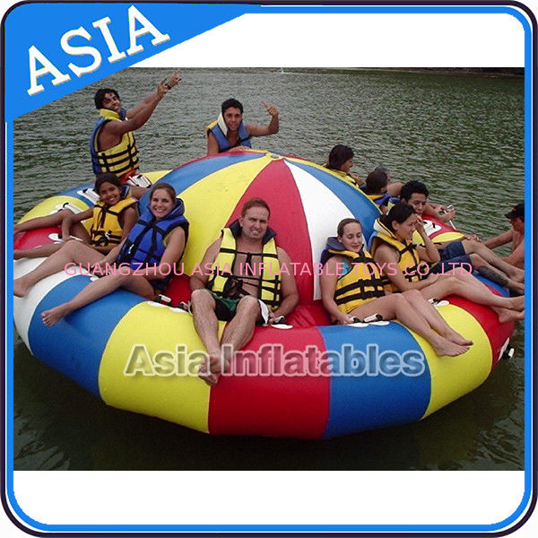 Fireproof 3m Inflatable Disco Boat With 8 Seats Pvc Inflatable Water Games supplier