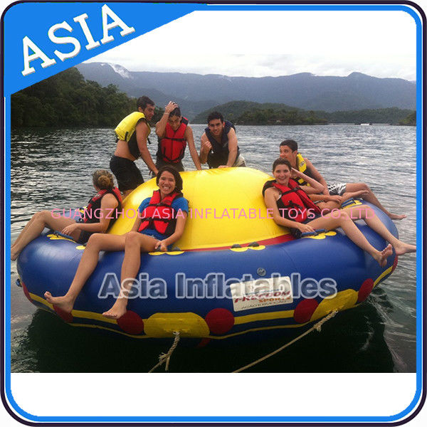 A Yellow Raft In Blue Water Quotes: Sealed 3m Inflatable Floating Spin Water Disco Boat For 8