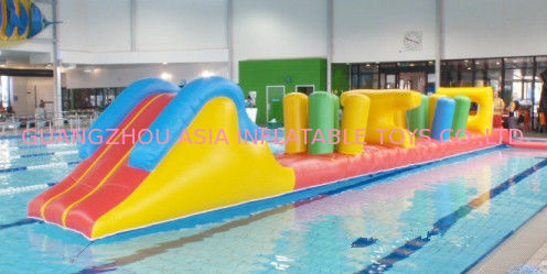 Indoor Swimming Pool Games, Inflatable Obstacle Course For Sale supplier