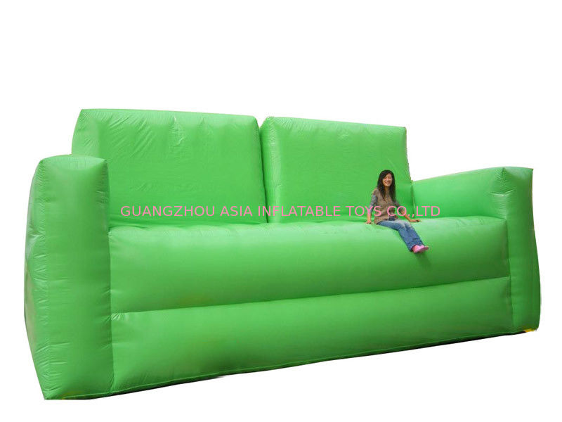Soft Green Inflatable Chair Sofa For Homes Use , Portable Inflatable Sofa  Chair