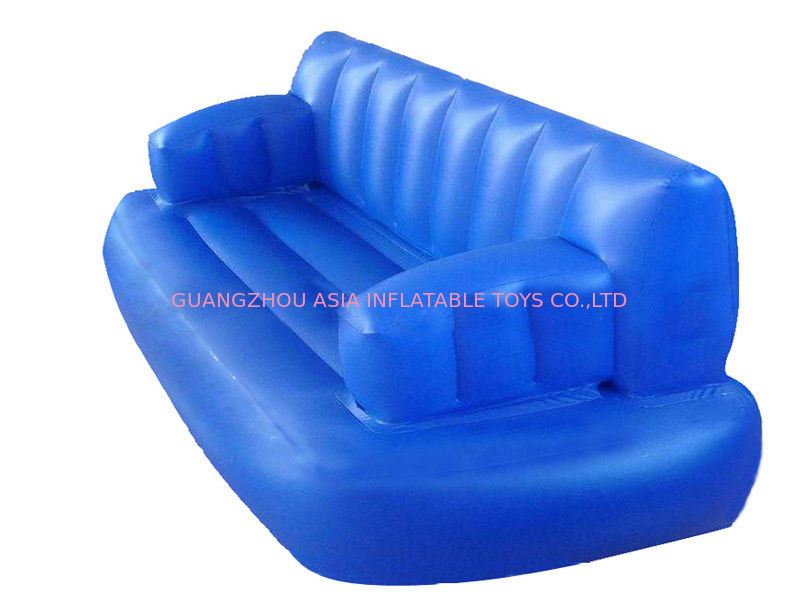 Water floating blue inflatable sofas and couches for for Sofa aufblasbar