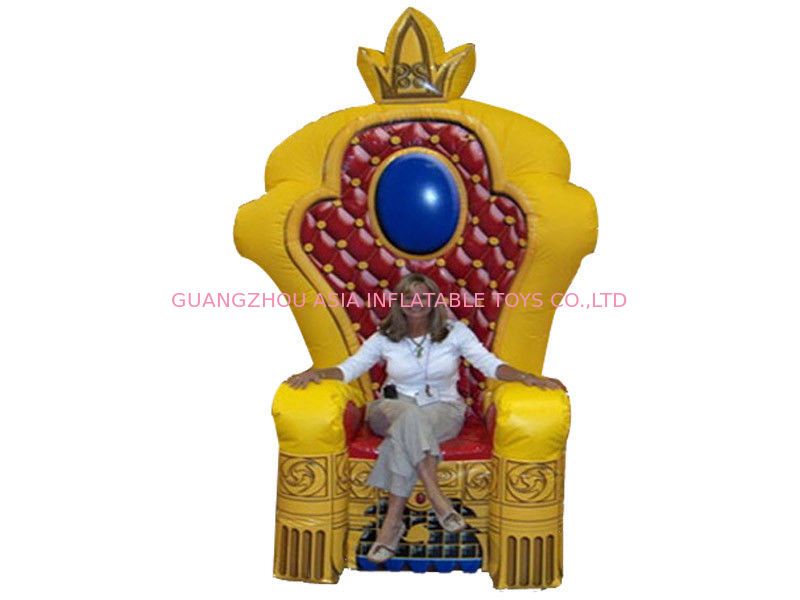 Chinese Supplier Advertising Inflatable King Chair Sofa For Chair Furniture Exhibition supplier