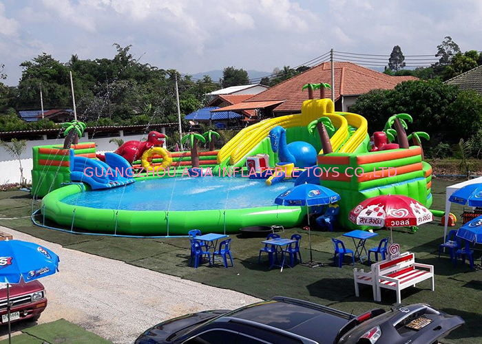 Inflatable Giant Mobile Water Park Site Funny And Commercial Swimming Pool Park Equipment