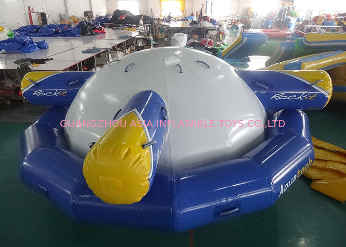 Inflatable Floating , Spinning Planet Saturn For Water Sports supplier