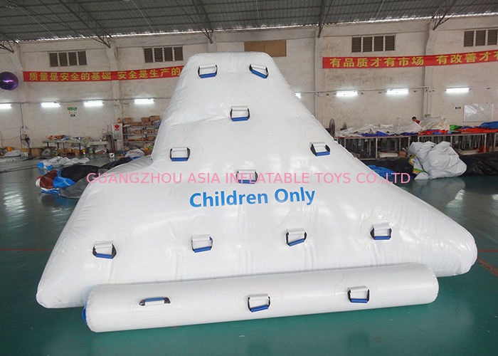 Inflatable iceberg with factory Kids size climbing mountaion for water game supplier