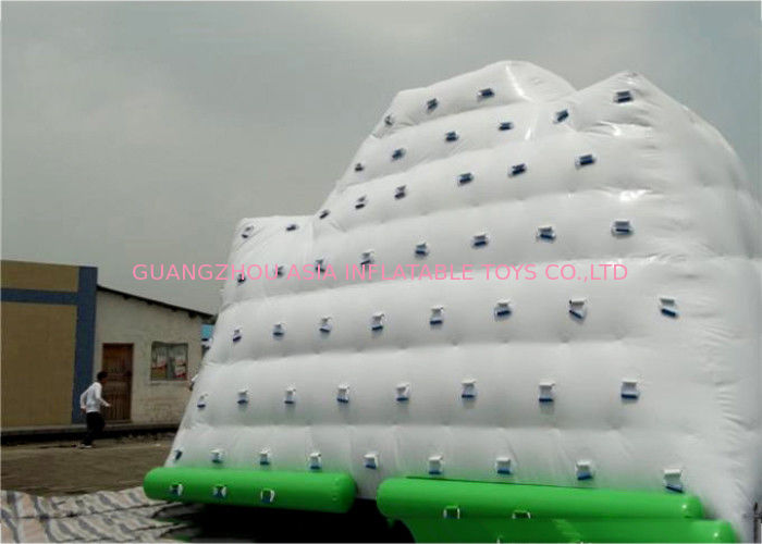 White Inflatable Water Sports , 3 Sides Inflatable Iceberg For Water Sport supplier