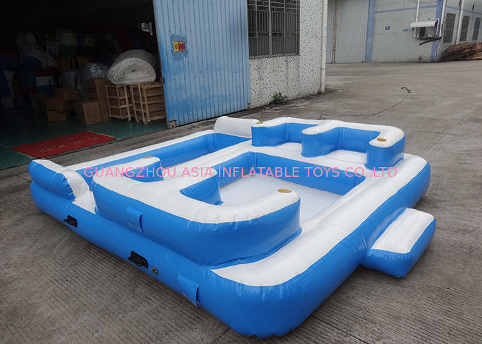 Entermainment 6 person inflatable floating island Inflatable swimming pool shock rocker