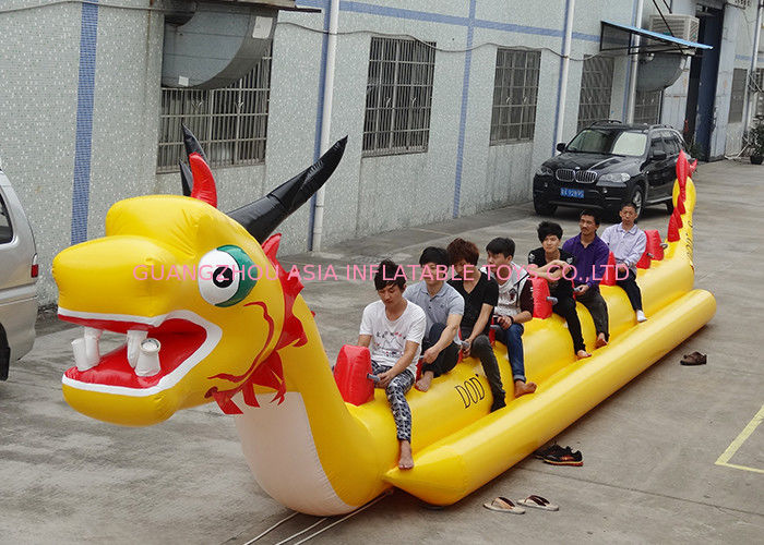 10 + Passenger Dragon Inflatable Towable Ski Tube Water Sport Games supplier
