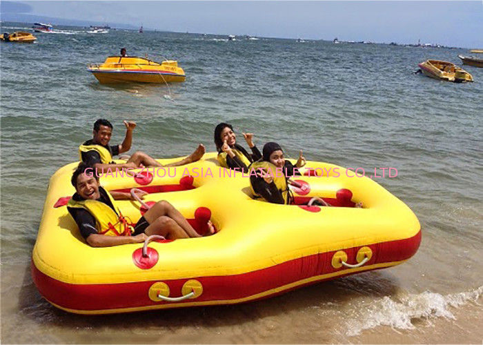 4 + Riders Commercial Grade Rental Pvc Crazy Towable Ski Tube For Water Sport