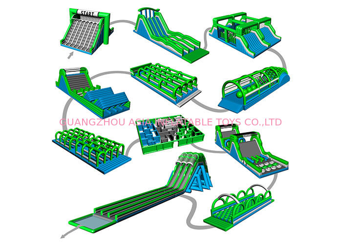 Kids / Adult Inflatable Obstacle Challenges With Silk Printing EN71 EN1496 CE supplier