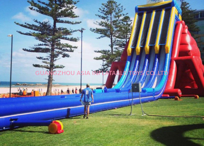 Outdoor Entermainment Inflatable Water Slide With Pool Fire Retardant supplier
