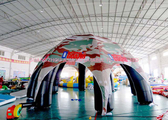 Inflatable Giant Spider Marquee Tent For Amusement Park / Supermarket supplier