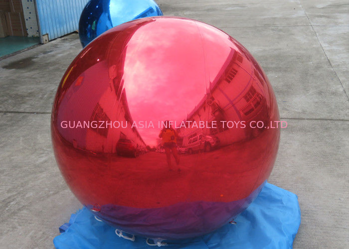 Helium Advertising Inflatables Red Mirror Balloon For Building Decoration supplier