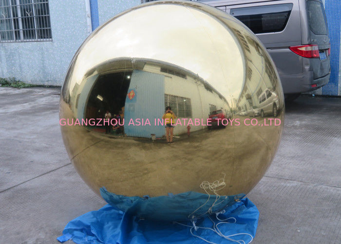 Inflatable Gold Mirror Balloon With Reflection Effect For Decoration On The Floor supplier