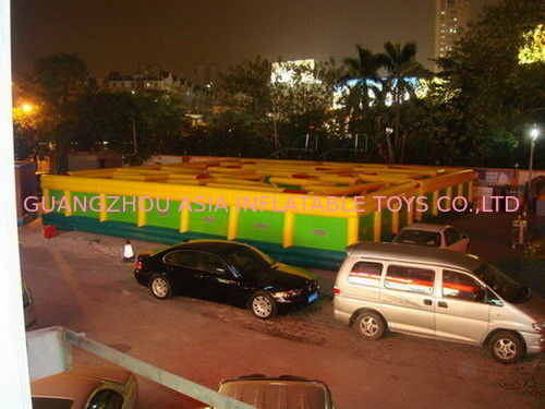 Inflatable Maze Games For Playground , Inflatable Interactive Labyrinth Games supplier
