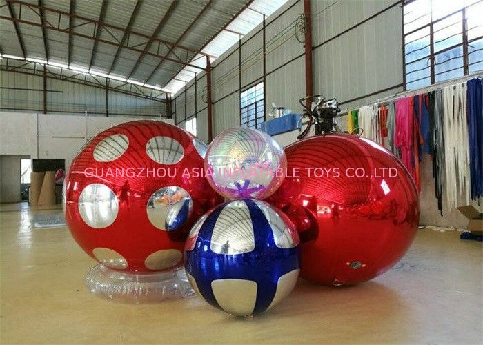Stage Customized Advertising Fireproof Inflatable Mirror Ball For Christmas Decoration supplier