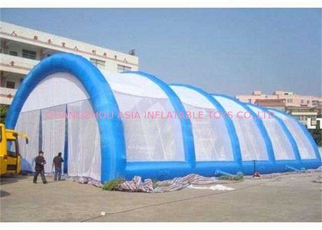 PVC Material And Glue Tunnel Large Inflatable Paintball Arena For Sports Game supplier