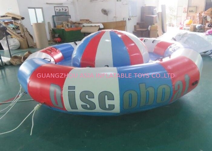 Digital Printing Turntable Inflatables Spinning Boat , 8 Person Towable Tube supplier