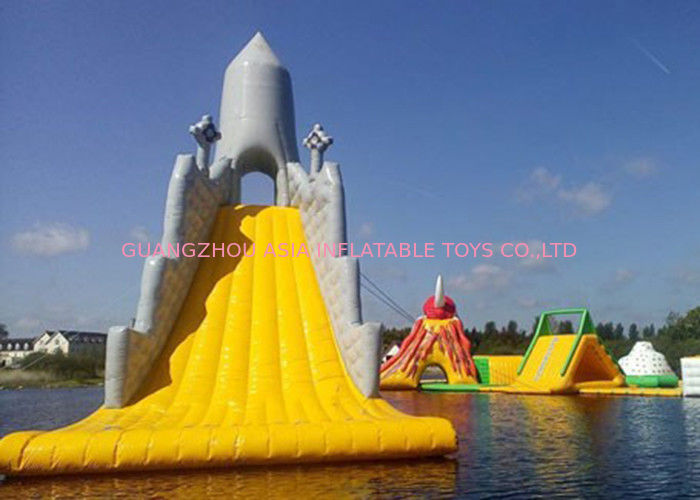 Customized Color Great Commercial Inflatable Water Slides For Water Equipment supplier