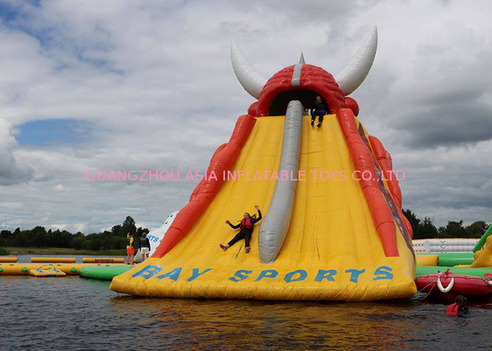 Huge Inflatable Floating Water Slide For Kids Or Adults / Outdoor Inflatable Water Park supplier