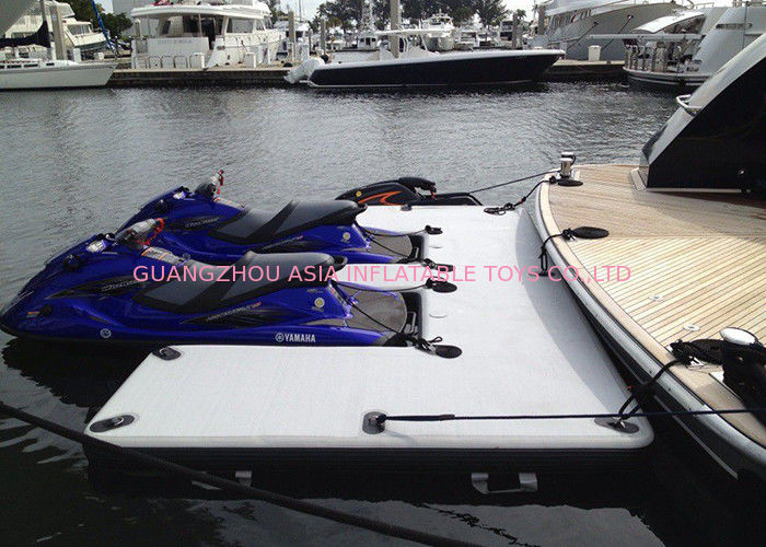 Drop Stitch Float Platform Inflatable Yacht Slides Watercraft Dock Customized Size supplier