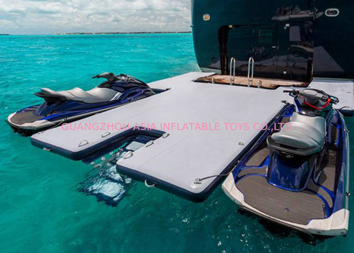 Durable Inflatable Yacht Slides Mega Dock , Jet - Ski Drive - On Blow Up Swim Platform supplier