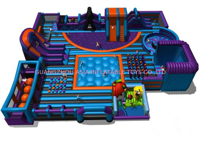 Funny Inflatable Amusement Park Interactive Sports Games Anti - Ruptured supplier