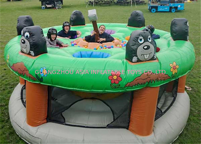 Giant Human Inflatable Sports Games / Whack A Mole Kids Game supplier