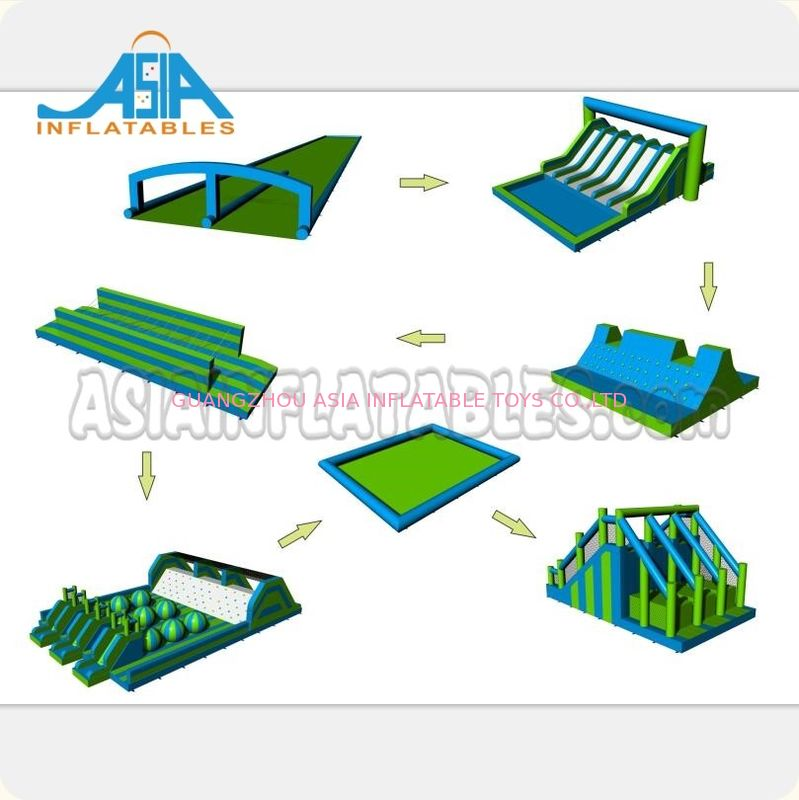 72M Long Interactive Inflatable 5k Obstacle Course / Insane Inflatable Fun Run supplier